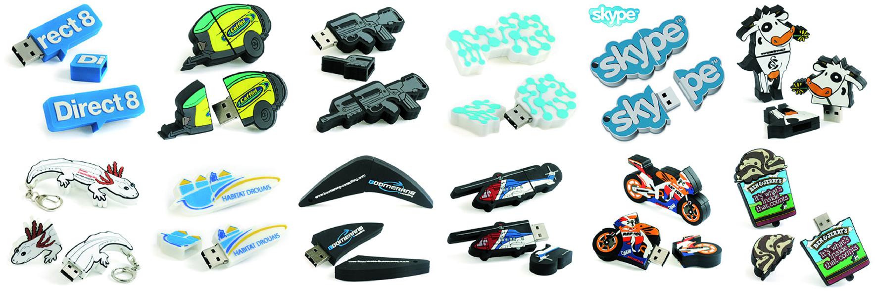 Memorias USB personalizadas, en 2D